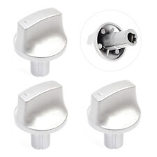 HOTPOINT Oven Cooker Knob Hob Genuine Silver Switch HUG HUL HUD Series x 3