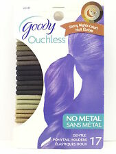 """GOODY OUCHLESS """"STARRY NIGHTS COLORS"""" HAIR ELASTICS - 17 PCS. (02345)"""