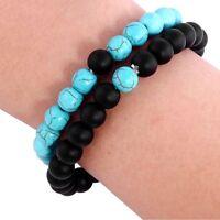 2 / set fashion jewelry lovers Valentine gift natural stone beaded bracelet