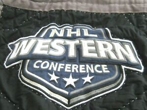 Pottery Barn NHL Hockey Quilted Sham Black Standard Pillow Western Conference