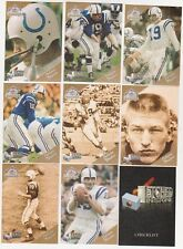 1994 Ted Williams Co. JOHNNY UNITAS ETCHED IN STONE  9 Card Insert Set