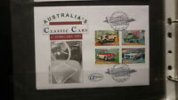 1997 AUSTRALIAN ALPHA STAMP ISSUE FDC, CLASSIC CARS SET OF 4, HOLDEN etc