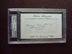 Gale Staley 1925 Chicago Cubs 2010 In Memory Of certified autograph d.1989