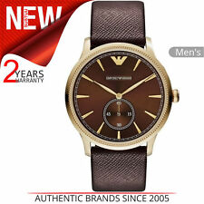 Emporio Armani Classic Men's Formal Watch│Brown Analog Dial│Leather Strap│AR1799