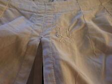 ancienne culotte panty taille 40-42mono brodé J C blanc pur ,liens fronceurs