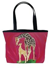 Giraffe Handbag Tote Bag by Salvador Kitti - Support Wildlife Conservation