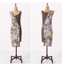 Anthropologie Leifsdottir Dress Knit Jersey Draped Asymmetrical Small S ~ NEW