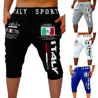 Mens Sport 3/4 Pants Casual Gym Workout Jogging Sweatpant Jogger Shorts Trousers