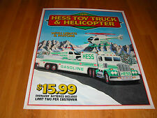 HESS 1995 TOY TRUCK AND HELICOPTER LARGE VERTICAL POSTER
