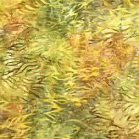 Robert Kaufman Batik Fabric, AMD-18857-43 LEAF, By The Half Yard, Quilting