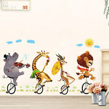 Jungle Wildlife Animal Sticker Kid Baby Nursery Wall Decals Home Bedroom Decor