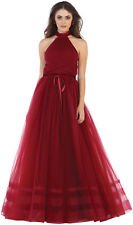 BEAUTY PAGEANT RED CARPET FLOWY DRESS GALA BALL FORMAL DANCE PROM EVENING GOWN