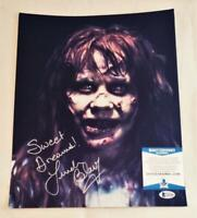 LINDA BLAIR REGAN SIGNED 11X14 PHOTO THE EXORCIST BECKETT COA 390