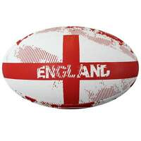 Optimum Sport Rugby Ball England Print Hand Stitched Durable Rubber Sizes 3 to 5