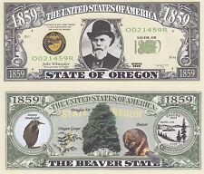 100 Oregon OR State Quarter Novelty Money Bills Lot