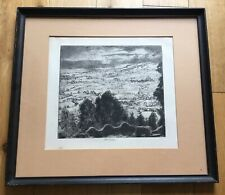 John Copley (1875-1950) Original Signed Landscape Etching Dates To Around 1947