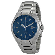 Citizen Eco Drive BM7170-53L Mens Titanium Sapphire Blue Dial Date Sporty Watch