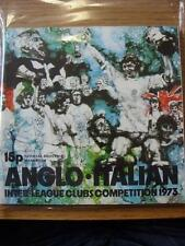 1973/1974 Anglo Italian: Inter League Clubs Competition Featuring Bologna, Bari,