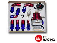 AN-6 Fuel Pressure Regulator Kit Gauge Civic Supra 7MGTE Ford 240sx Honda