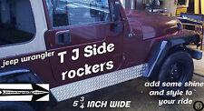 1997-2006 Jeep Wrangler TJ ++highly polished++Diamond Plate Rocker Panels