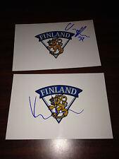 Kaapo Kahkonen SIGNED 4x6 photo ESPOO BLUES FINLAND / MINNESOTA WILD #2