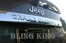 Jeep Grand Cherokee chrome tail gate rear lift hatch cover