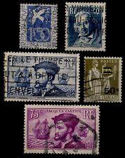 L'ANNÉE 1934 Complète Oblitérés = Cote 26 € / Lot Timbres France 294 à 298
