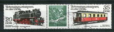 GERMANY 1980 20/35  RAILWAY COMMEMORATIVE STAMPS TAB GUTTER PAIR SG E 2278 & 80