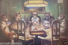 """""""DOGS PLAYING POKER"""" POSTER FROM ASIA"""
