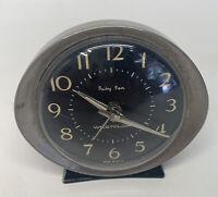 Westclox BABY BEN Vintage Windup Metal Alarm Clock Black USA