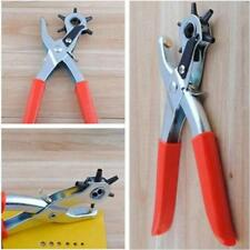 Unique 6 Sized Heavy Duty Leather Hole Punch Hand Pliers Belt Holes Punches - SS