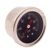 """Fuel Pressure Gauge Liquid Filled 1.5"""" 0-100 PSI 1/8"""" NPT ,Aluminum Housing"""