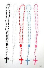 Solid Plastic Rosary Beads Choose from 5 Colors NWOT (Includes  Pouch)