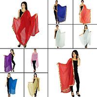 Women Long Dupatta Indian Scarf Stole Hijab Neck Wrap Viscose Chiffon -ND627