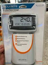 AcuRite Digital Rain Gauge Wireless Collector Monitoring Station Outdoor Sensor