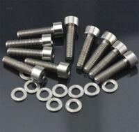 10 Pieces M5x20mm Titanium Ti Allen Hex Socket Cap Head Bolts Screw + Spacer