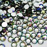 AB IRIDESCENT ACRYLIC ROUND RHINESTONE GEM FLAT BACK ART CARD CRAFTS DECORATION