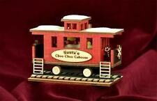 Ginger Cottages Lighted Santa's Choo Choo Caboose Ornament Gc133
