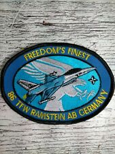 USAF PATCH - 86th Tactical Fighter Wing, Ramstein AB, FRG, 1987 (F-16C/D)