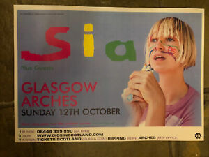 Sia -  Gig poster For Glasgow - Oct 2008