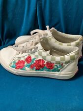 VANS  RARE Leather Checkered with Roses WOMENS US 9 City of Roses?