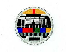 Patch patches embroidered iron on backpack tv test card television retro badge