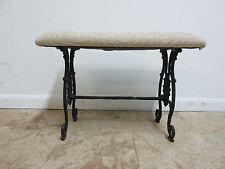 Antique victorian cast iron fireside Window bench ottoman stool Vanity Seat