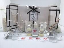 Soy Candle Making Kit - Glass votives and tealights. Free shipping.