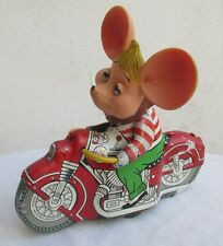 Rare Large 7-15/16� 1960's Topo Gigio Tin Toy Motorcycle,Rubber Head Gorgo, Lqqk