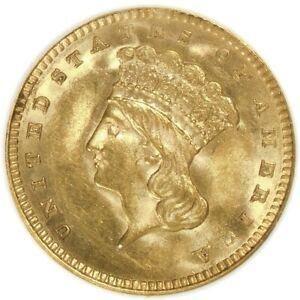 🌝🔥🌝🔥😎NGC MS63 1862 GOLD DOLLAR TYPE 3