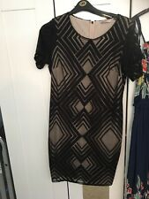 Ladies Size 16 Black Dress Lace Lined M&s Collection