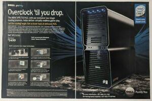 Dell XPS 710 H2C Print Ad Poster Art PROMO Original PC Advert Gaming Intel Core