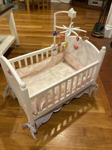 American Girl Bitty Baby Retired Crib-Mobile-bedding
