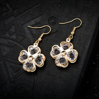Fashion Women Lady Girls Elegant Flower Crystal Rhinestone Ear Stud Earrings Hot